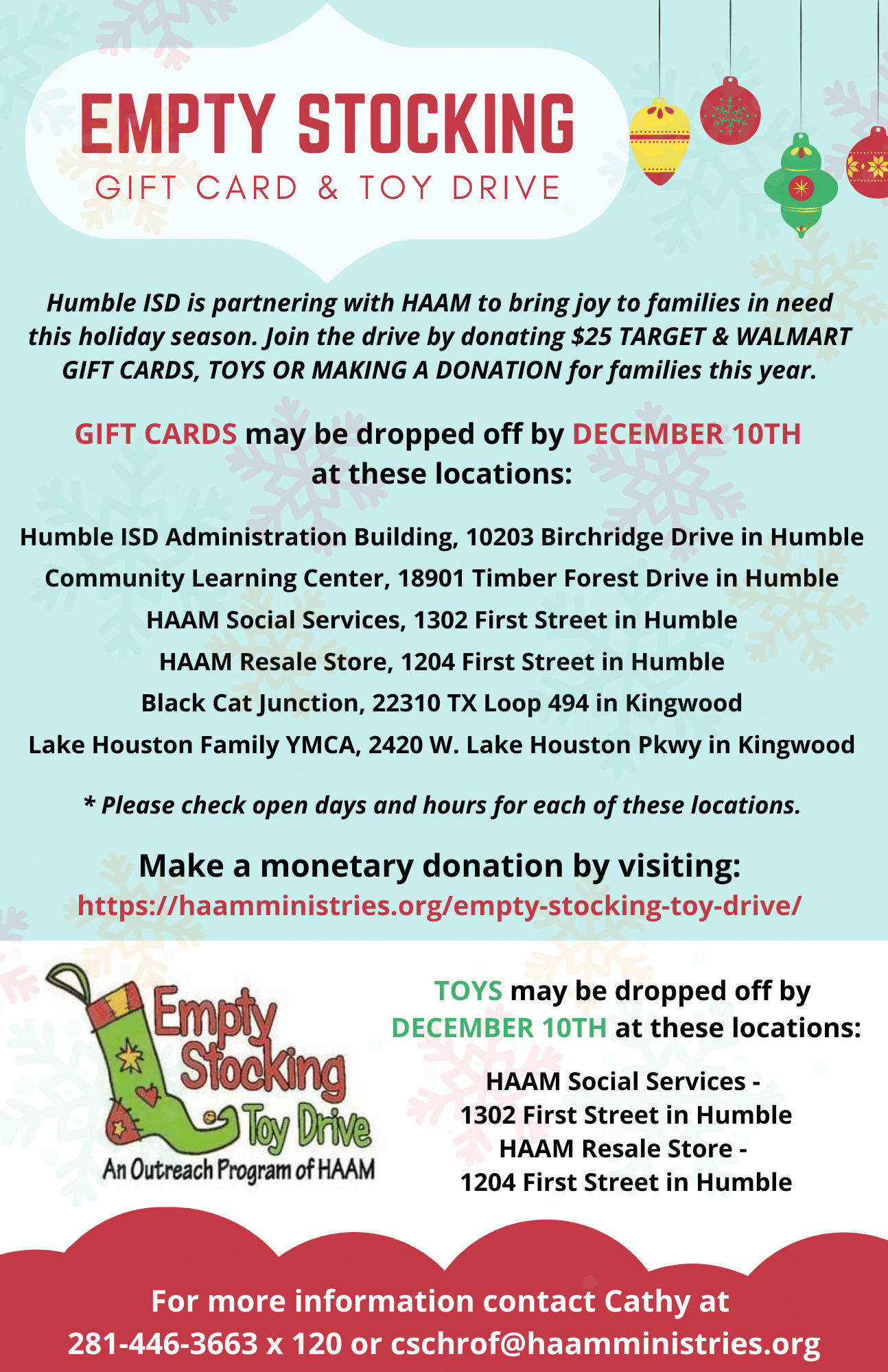 Humble ISD Toy And Gift Card Drive For Empty Stocking (1)